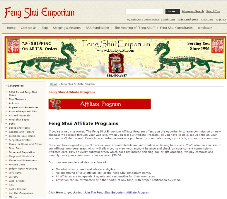 fengshui emporium affiliate sign up